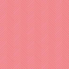 Coral Pink & Peach Herringbone Chevron