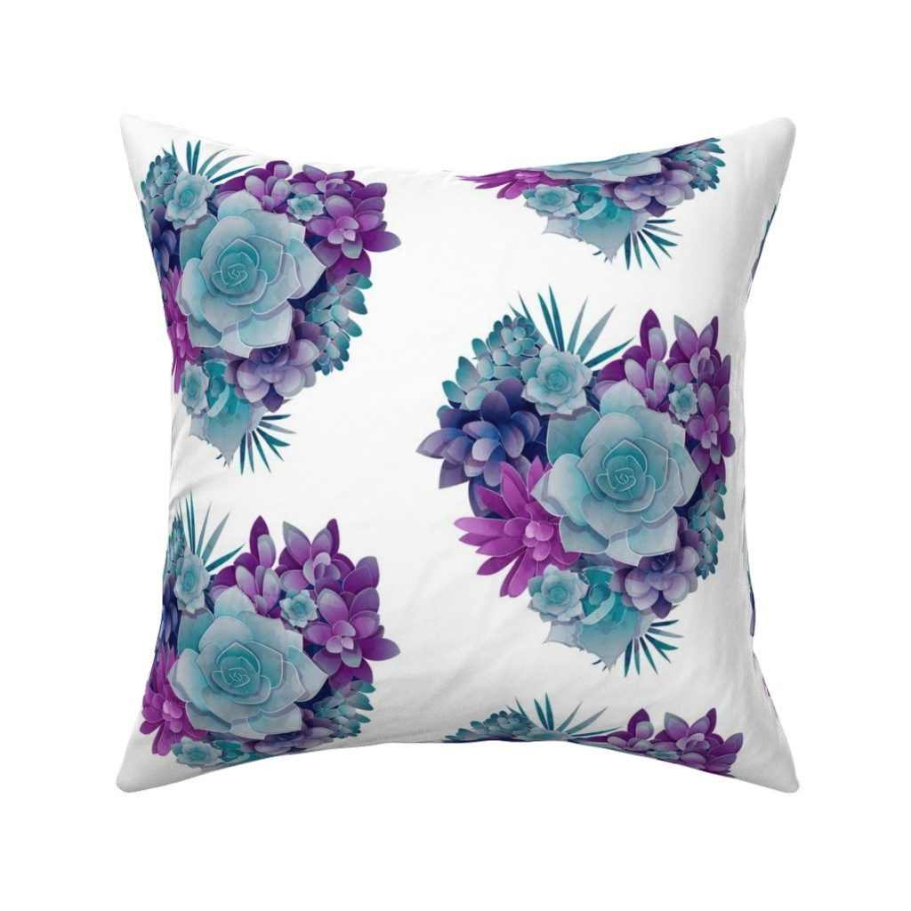 Catalan Throw Pillow featuring Succulent Love 2 by selmacardoso