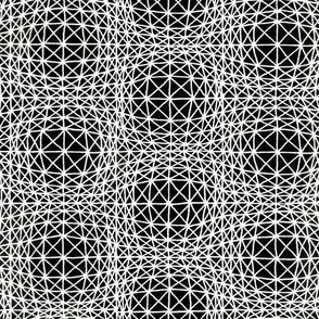 Optical bubbles black white