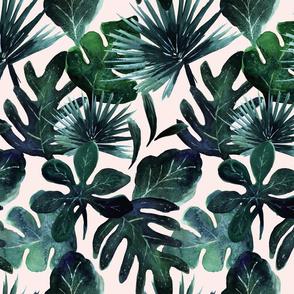 tropical Leaves Blush