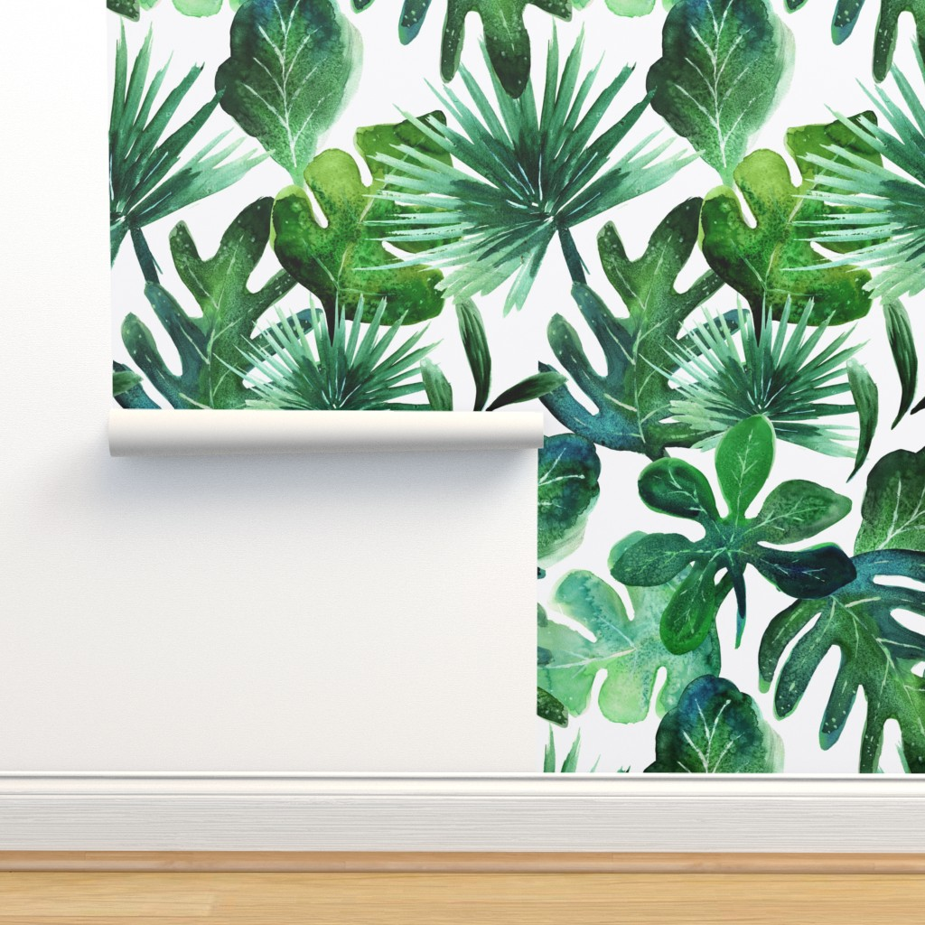 Isobar Durable Wallpaper featuring Tropical Leaves by crystal_walen