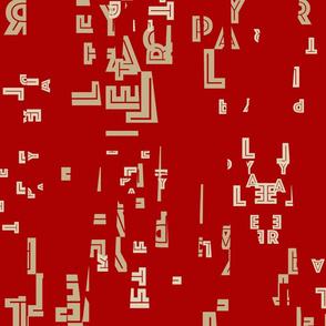 letter play red/tan/sand