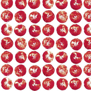 apple prints - red on white