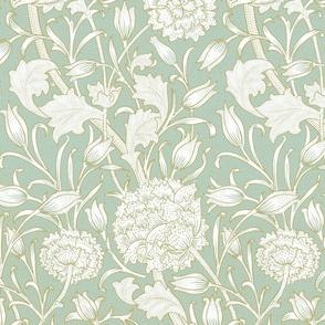 William Morris ~ Wild Tulip ~ Eau~de~Nil and Gilt