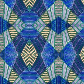 ethnic weaves in blues