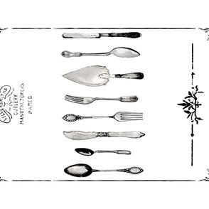 Eclectic Treasures Cutlery tea towel