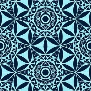 Mandala Hand Drawing Pattern Fabric