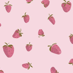 Strawberries on Pink