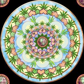 Marijuana Mandala 12x12