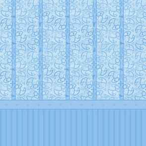 © 2011 Bird Motif Shower Curtain - Blue Ice