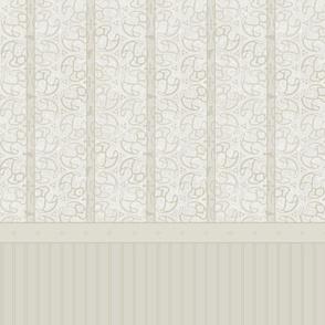 © 2011 Bird Motif Shower Curtain - Dusty Ice