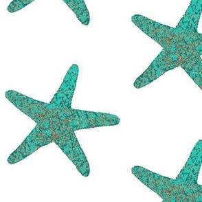 Blue Starfish Watercolor