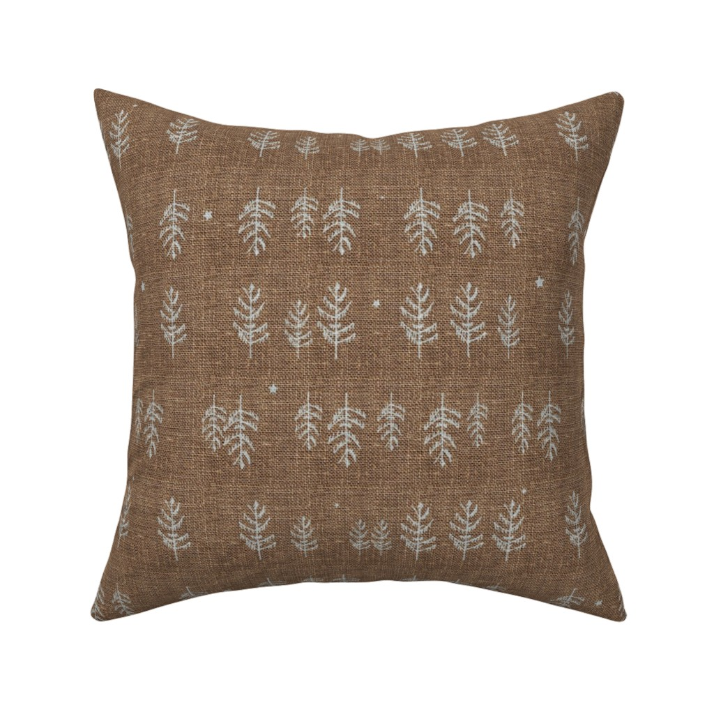 Catalan Throw Pillow featuring Night Forest (burnt umber) by nouveau_bohemian