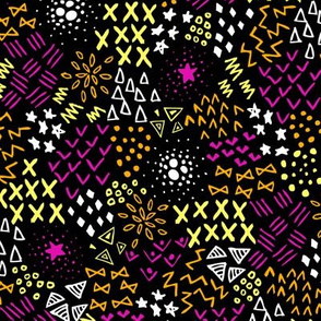 Textura (Black, Pink and Orange)
