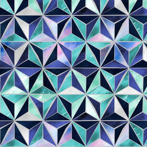 Wabi Sabi Geodesic Stars - Teal