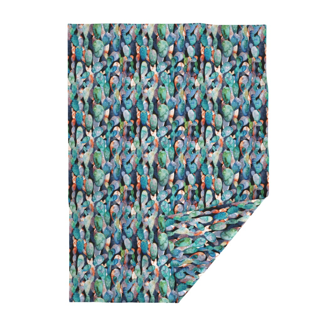 Lakenvelder Throw Blanket featuring Watercolor cactuses black by tasiania