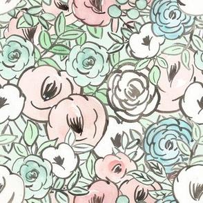 spring watercolor floral