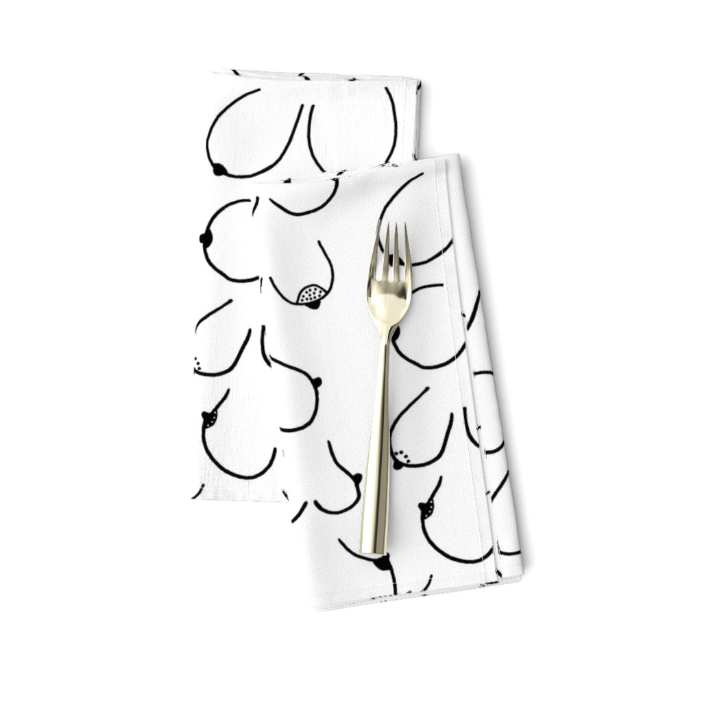 Amarela Dinner Napkins featuring Simply the breast by hazelnicholls