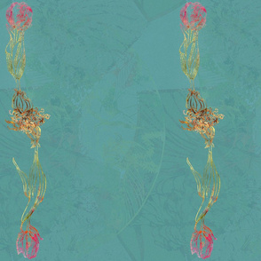 Birthday Tulips Collection-teal-border