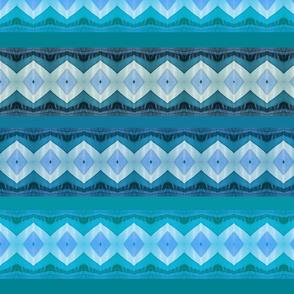 blue zigzagged squares