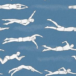 Swimmers Medium Blue