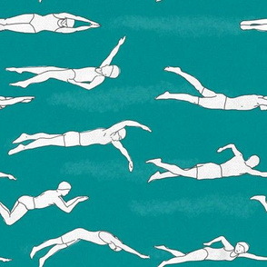 Swimmers_on_Turquoise