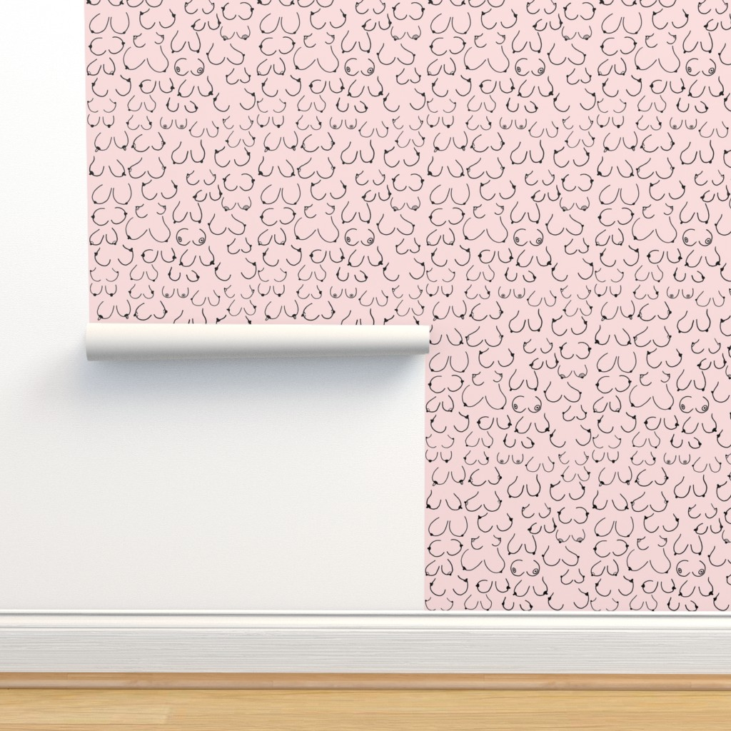 Isobar Durable Wallpaper featuring Simply the breast Pink by hazelnicholls