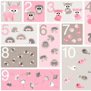 woodland counting in pink