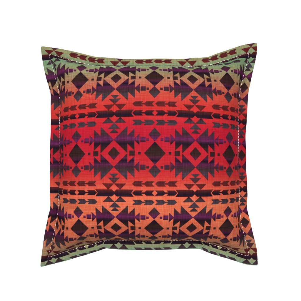Serama Throw Pillow featuring Charming Southwest by cherie
