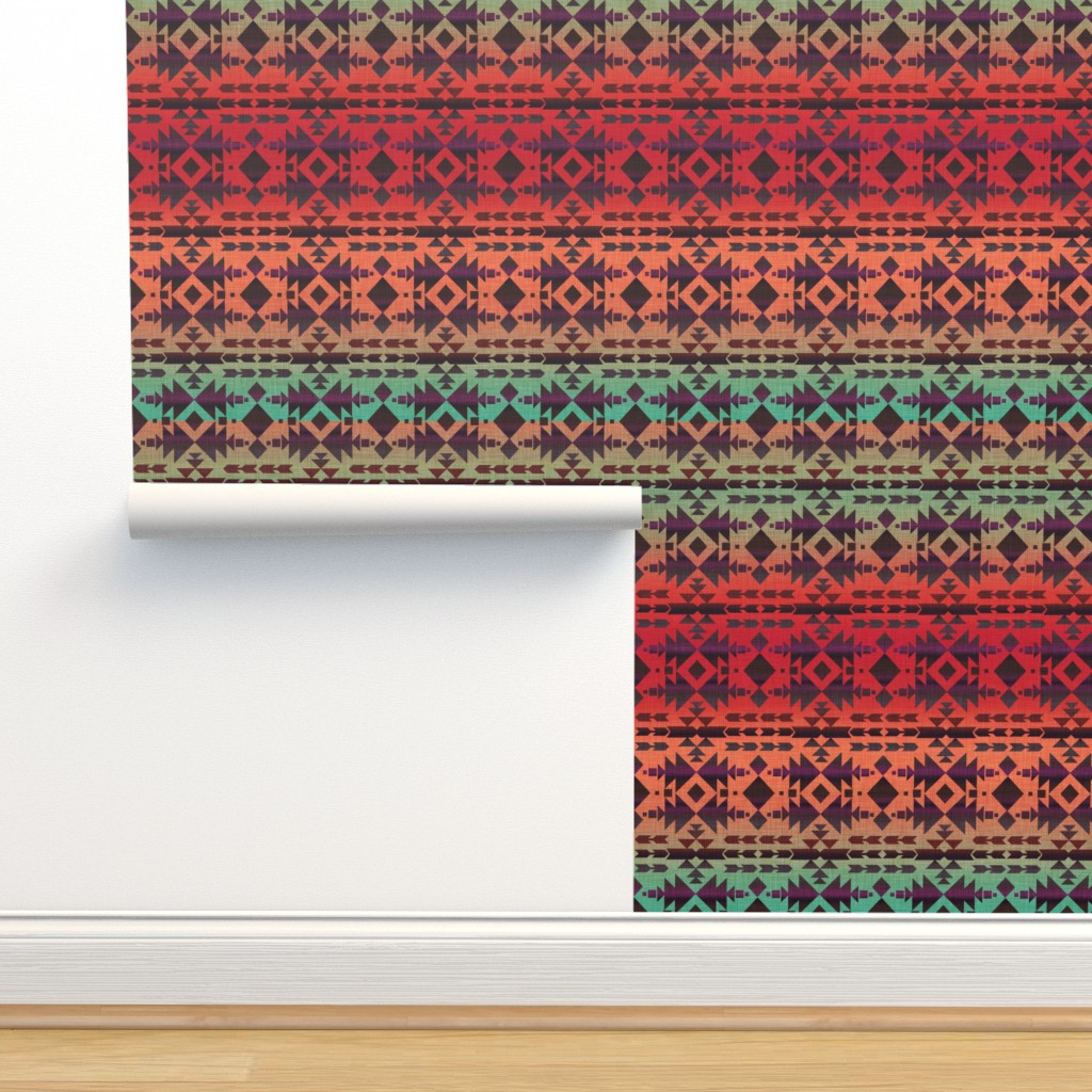 Isobar Durable Wallpaper featuring Charming Southwest by cherie