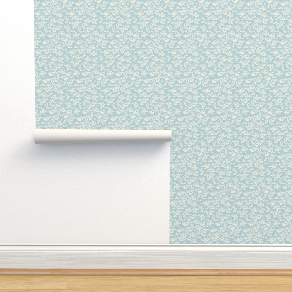 Isobar Durable Wallpaper featuring Barnacles in blue by lburleighdesigns