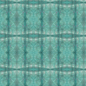 embroidery and shibori with teal