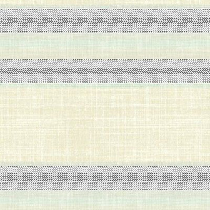 Herringbone on faux linen in Spa blue and Sand