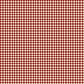 Quarter Inch Red Gingham