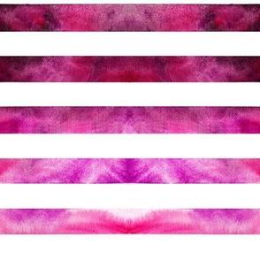 Watercolor Pink Stripe