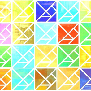 Painted Patchwork Tangrams