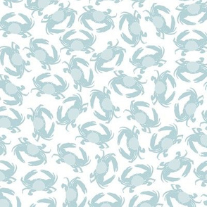 Crabs in blue and white