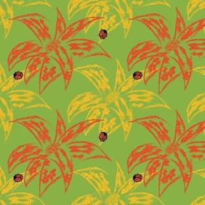 Loud Lilies 3 with Ladybugs