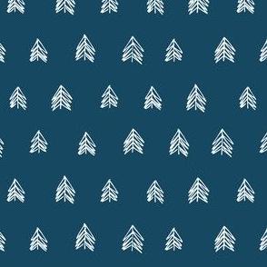 Pacific Northwest Evergreens - Indigo