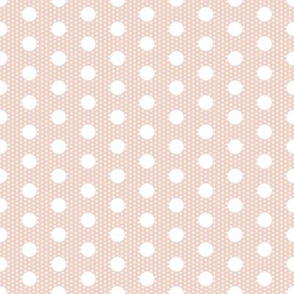 Dot dot: white on pale pink by Su_G