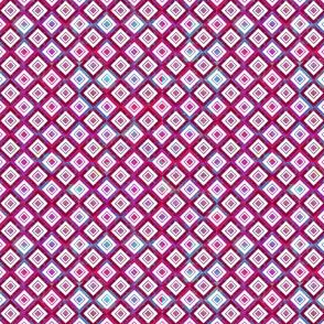 Mosaic Diamonds Magenta