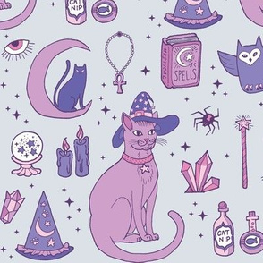 Mystical Cats in Grey
