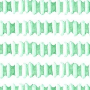 17-15J Watercolor Stripe Jade Green || Modern  succulent southwest white spring grass Ombre tile _Miss Chiff Designs