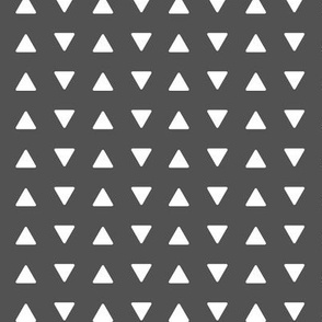 (small scale) triangles // charcoal - Woodland Collection