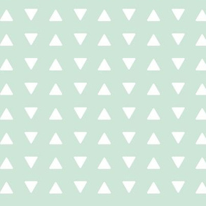 (small scale) triangles // mint - Woodland Collection