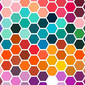 color chart hexagons