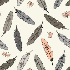 Feathers - Blush, Ivory