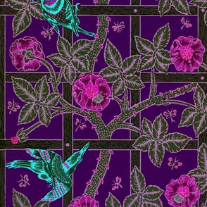 The William Morris Collection ~ Birds On A Trellis ~ Nightbloom on 1800
