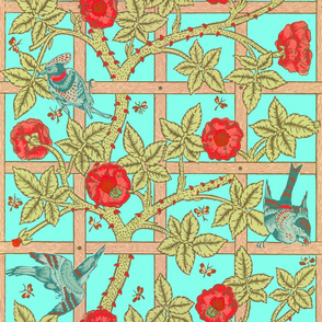 The William Morris Collection ~ Birds On A Trellis ~ Trinket