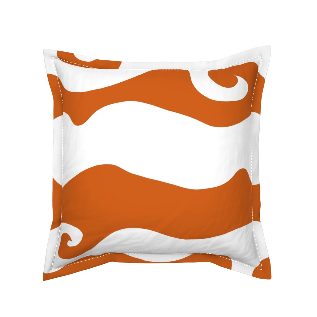 Serama Throw Pillow featuring Swirly Wave - orangy by designergal